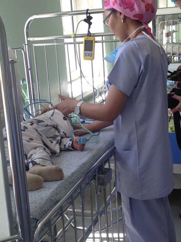 2015_June_Ulaanbaator_Lauren filming visit_cleft palate boy_recovery_Maternal and Child Hospital UB-2