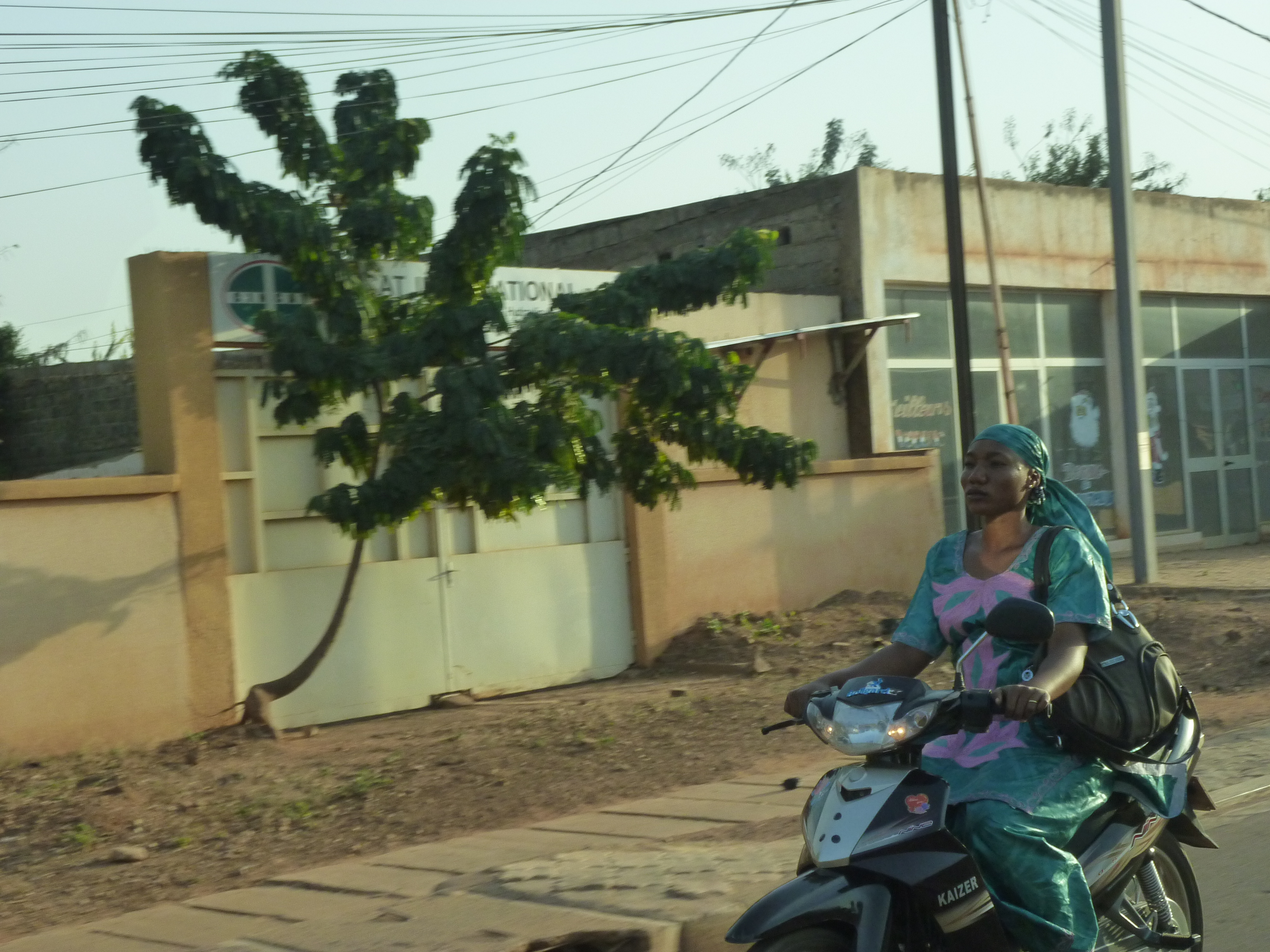 Woman on scooter_Burkina Faso