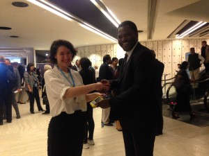 2015_May_WHA_Sarah and Emmanuel Makasa_oximeter handover