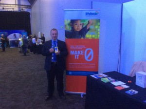 2015_June_BMA ARM conference_Boe_Peter Maguire with oximeter and Lifebox stand
