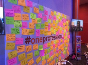 2015_June_BMA ARM conference_Boe_wall of post it notes_one profession