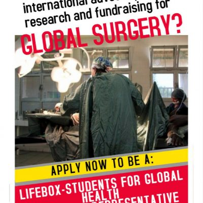 Calling all students: take the lead in global surgery at your university